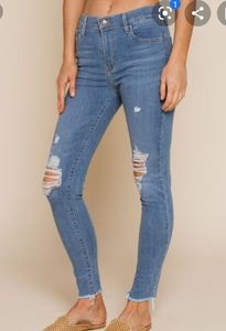 Levi's 720 high rise super skinny distressed jeans